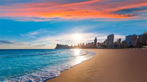 full hd wallpaper costa blanca sunrise beach resort spain