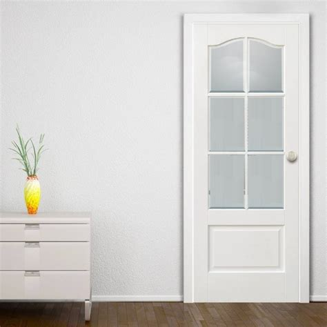 White Interior Doors With Glass White Glass Panel Interior Doors Ideas To Provide More Privacy At Your Home Home Doors Design