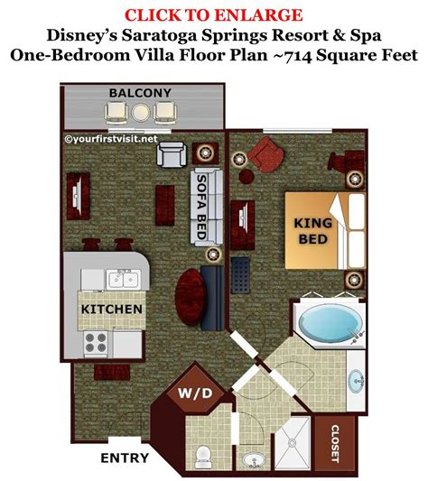bay lake tower one bedroom villa floor plan review disney s old key west resort yourfirstvisit net