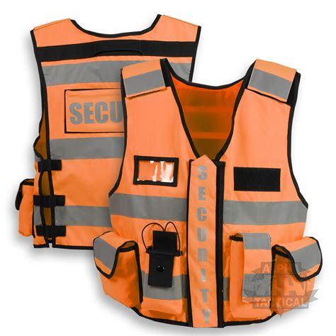 security vest tactical security duty patrol vest hi viz orange sia industry door staff ebay