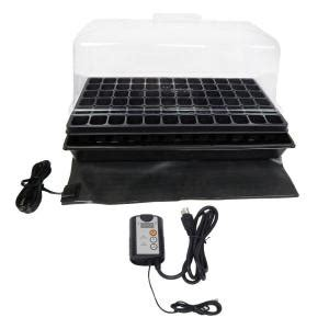 Viagrow Seedling Heat Mat by Viagrow Single Propagation Kit With Heat Mat Flat Tray