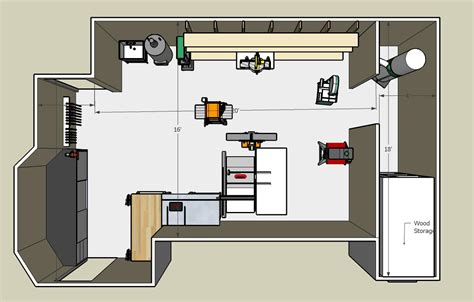 Shop Plans by Woodworking Shop Floor Plans View The Photo Gallery