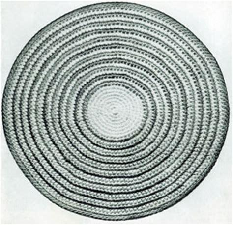 circle pattern rug half oval crochet pattern crochet