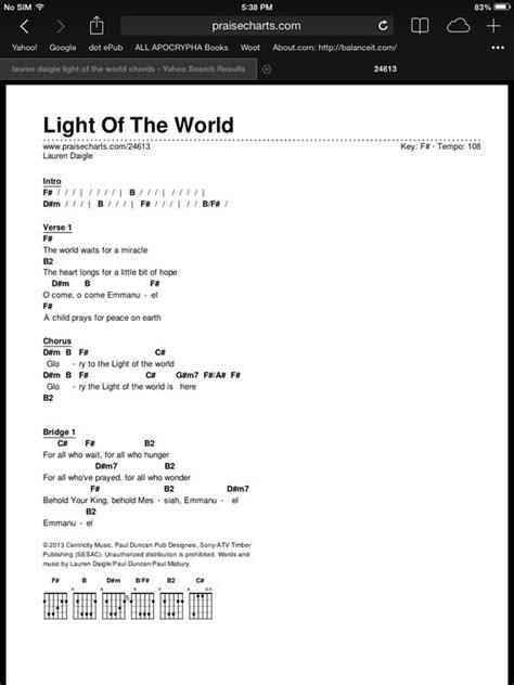 light of the world chords pinterest the world s catalog of ideas