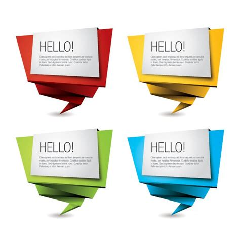 Origami Signs - colorful origami banners freebies fribly