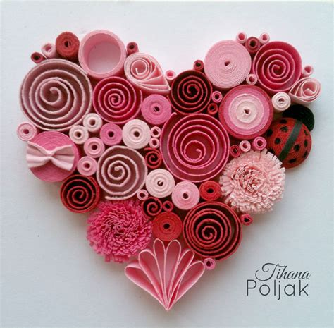 quilling designs quilled heart quilling red rose heart love quilling