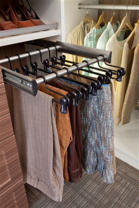 Closet Pull Rack by Pull Out Garment Rack Other Metro By