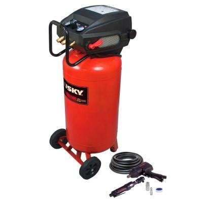 home depot air compressor husky husky 26 gal portable electric air compressor with 2 air