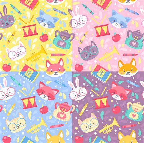 pattern cute illustrator how to create a cute playful school pattern in adobe