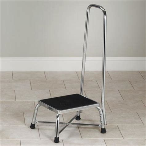bariatric step stool with two handrails clinton chrome bariatric step stool with handrail