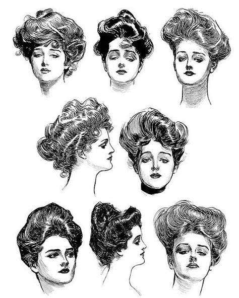 suffragette hairstyles gibson girls influenced the way my grandmother wore her