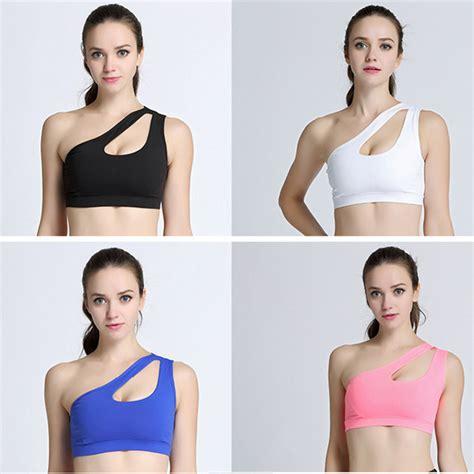 Lasona Br228l4y Black Sport Bra Wanita sport bra wanita one shoulder size m black jakartanotebook