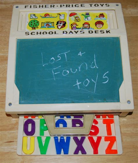 fisher price drawing desk fisher price days desk lost found vintage toys