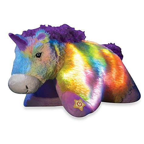 Pillow Pet Rainbow Unicorn - buy pillow pets 174 glow pets rainbow unicorn from bed bath