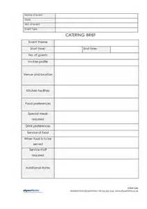 catering brief allyourforms