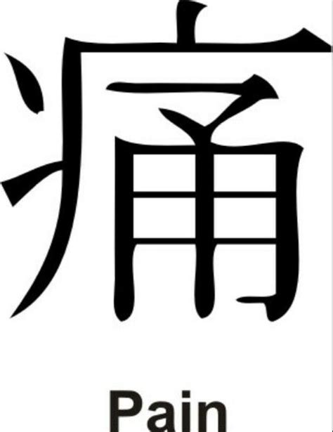 kanji symbol for pain my life pinterest pain d