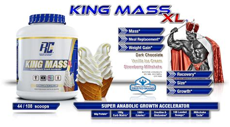 Special Offers Ronnie Coleman Kingmass Xl Rc Kingmass king mass 15lb
