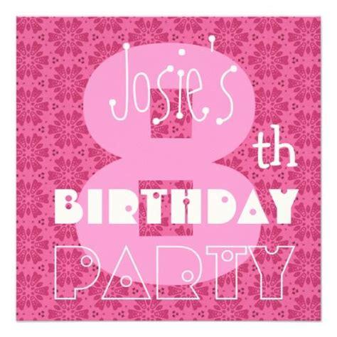 Eleanor Pink Purple 7 8th 22 best 7th birthday invitations images on