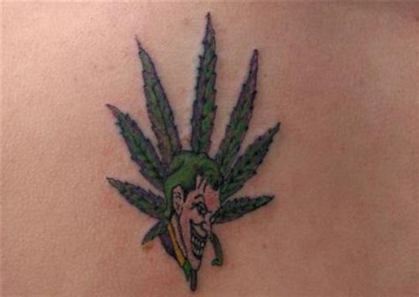 weed tattoo design clown