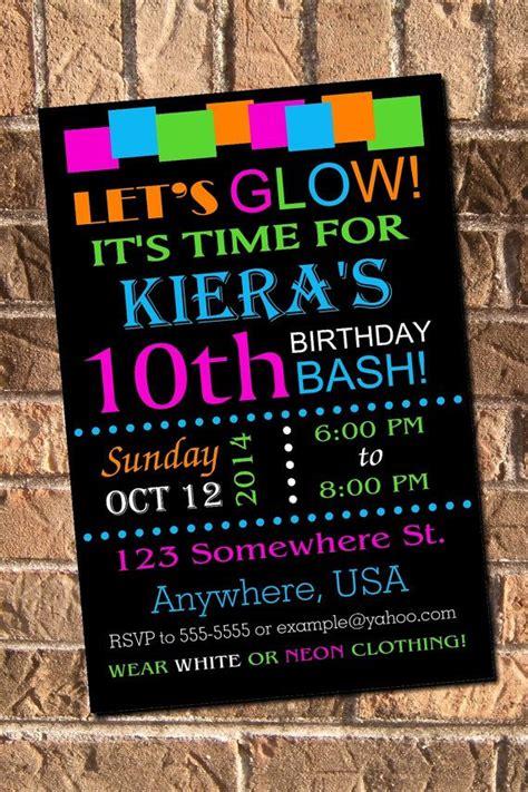 neon invitations templates 17 best ideas about neon birthday on