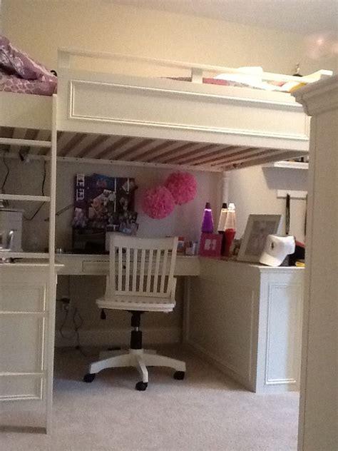 pb teen loft bed pb teen loft bed in erin s room small bedroom ideas