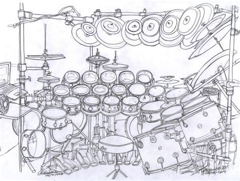 Drawing Of A Drum Kit