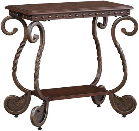 furniture rafferty sofa table rafferty chairside end table from t382 7