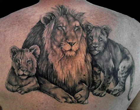 lion and cub tattoo 19 family tattoos for back