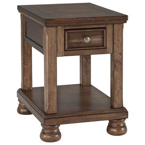 signature design  ashley flynnter transitional chair side  table rifes home furniture