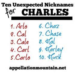 Nicknames For Guys Named Ten Nicknames For Charles Appellation Mountain