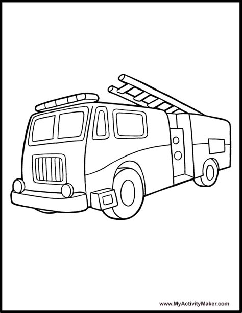 A Firetruck Coloring Pages Firetruck Color Page