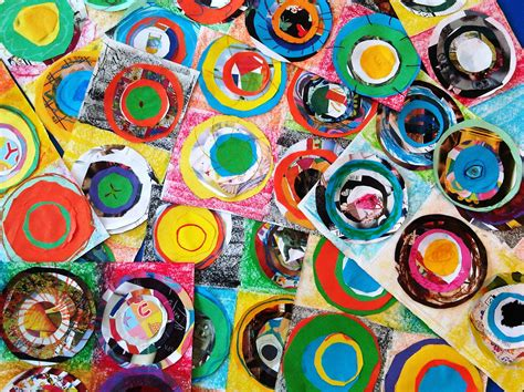 painting ks1 artists kandinsky cuttingandsticking