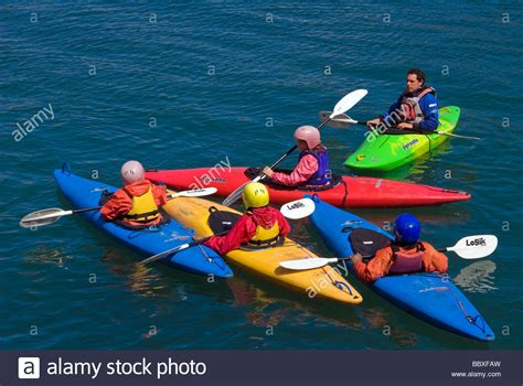 canoes uk colourful sea kayaks canoeing at sea sea canoes uk four