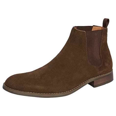 Handmade Mens Boots - handmade mens brown ankle suede leather boots mens