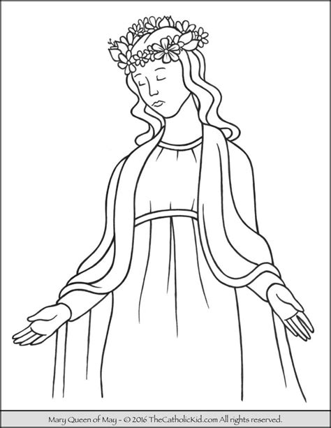coloring page catholic 20 best mary coloring pages images on pinterest catholic