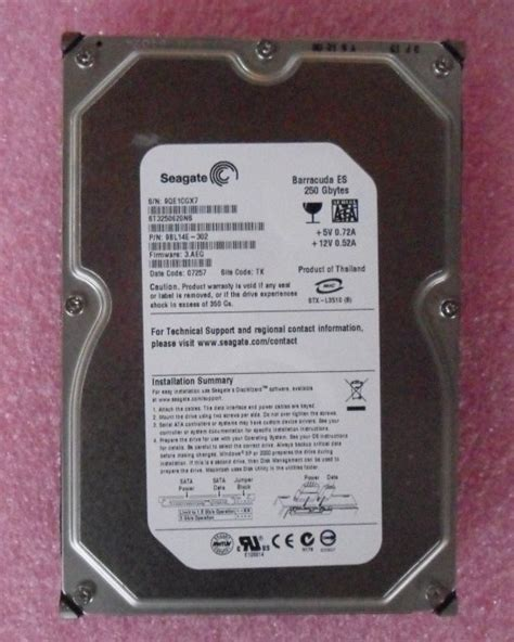 Harddisk Seagate Barracuda 250gb seagate barracuda es st3250620ns 250gb 7200 rpm 16mb cache