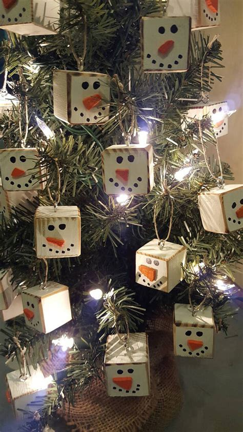 homemade primitive christmas tree ornaments for a