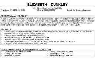 resume sle social worker resume exle sle