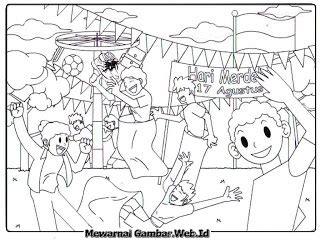 gambar mewarnai hari kemerdekaan indonesia mewarnai gambar