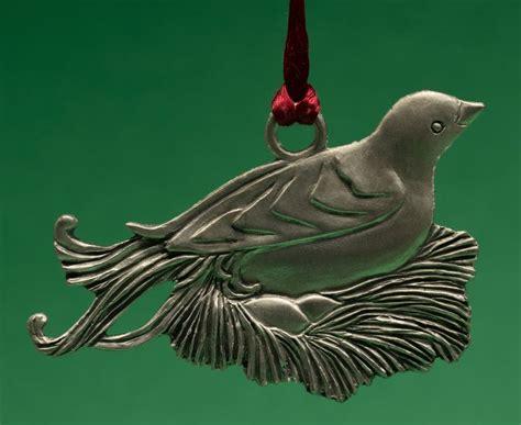 birds comfort seagull pewter hanging ornament comfort nesting bird