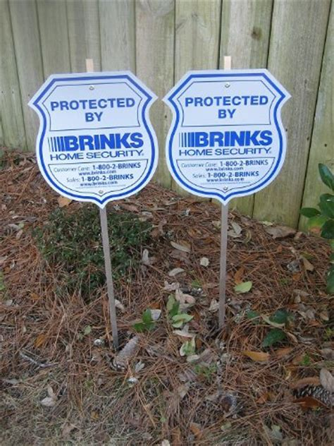 2 new brinks home security alarm system yard signs 8