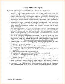 Lab Report Sample Chemistry 13 Chemistry Lab Report Sample Denial Letter Sample