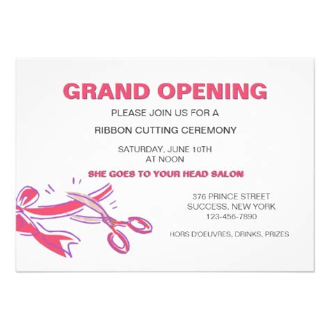 grand opening invitation templates ribbon cutting ceremony invitation