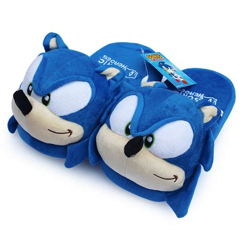sonic the hedgehog slippers 11 quot sonic the hedgehog soft slippers winter indoor plush