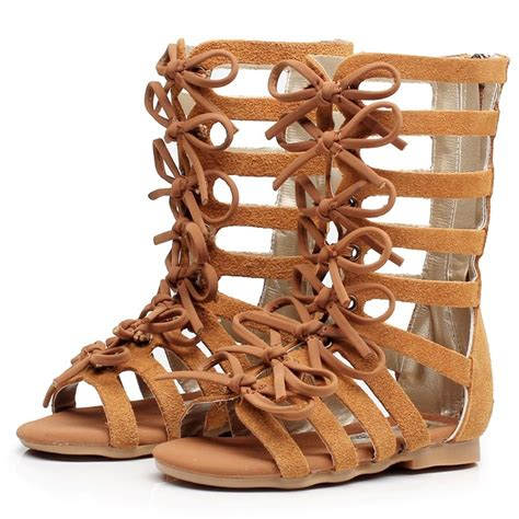 high top gladiator sandals high top fashion genuine leather summer brown black