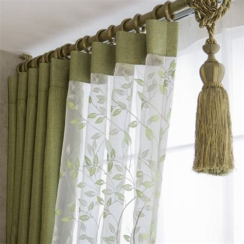 designer valances green bedroom curtains
