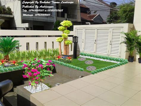 contoh desain taman minimalis gambar taman minimalis depan rumah dan indoor tukang taman