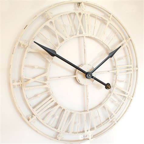 Antique Wall Clocks Online by Skeleton Wall Clock In Cream White Uk
