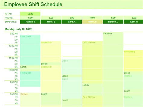 Download Employee Shift Schedule Template For Excel For Microsoft Office Software Its A Free Microsoft Excel Employee Schedule Template