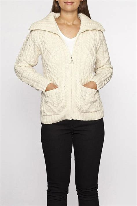how to knit collar on sweater zip collar cable knit sweater aran sweaters direct